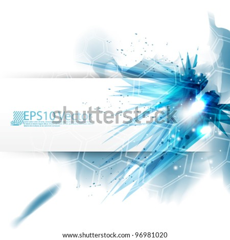 eps10 abstract vector crystallized background design