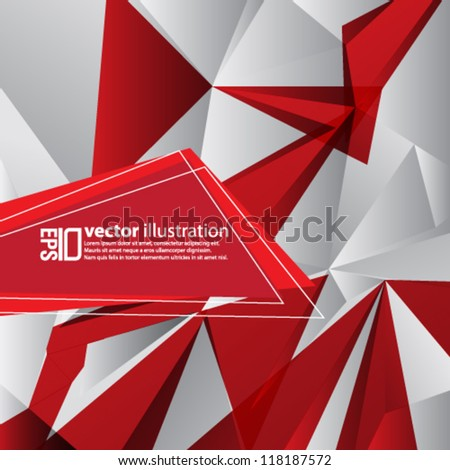 eps10 abstract vector design - geometric shape illustration