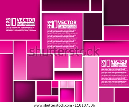 eps10 abstract vector design - monochromatic square illustration - stock vector
