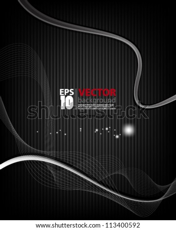 eps10 abstract vector design, monochromatic wave on carbon background - stock vector