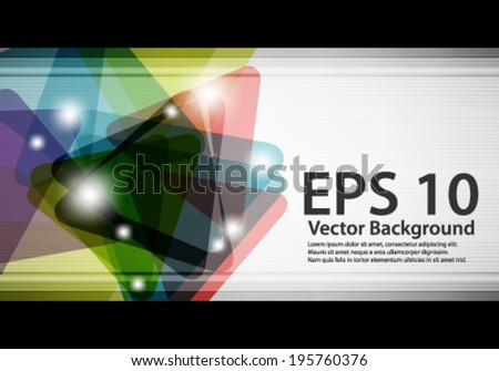 eps10 abstract vector design - multicolored geometric triangles - stock vector