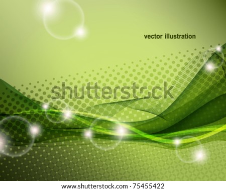 eps10 abstract wave vector background - stock vector