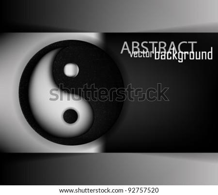 eps10 abstract yin yang concept design - stock vector