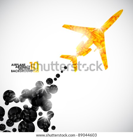 eps10, airplane, vector abstract background - stock vector