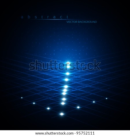 EPS10 Blue Abstract Vector Background - stock vector