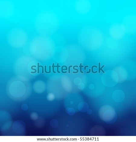 EPS 10 Blue bokeh abstract light background - Vector illustration - stock vector