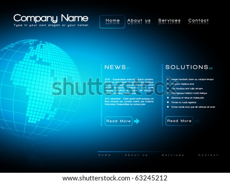 EPS10 Business website template vector - stock vector