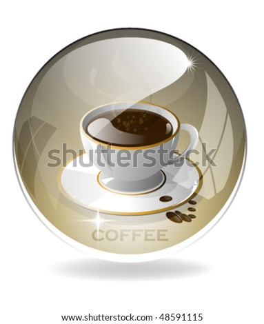 Eps10 Coffee Orb - stock vector