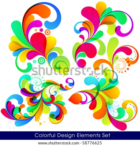 EPS10. Collection of modern, trendy design elements. - stock vector