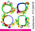 EPS10. Collection of trendy frames for your design - stock photo