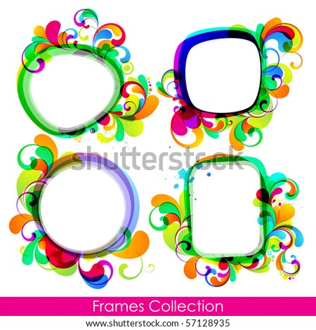 EPS10. Collection of trendy frames for your design - stock vector
