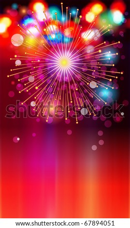 EPS-10: colored lights and bursts for the New Year or other celebrations - stock vector