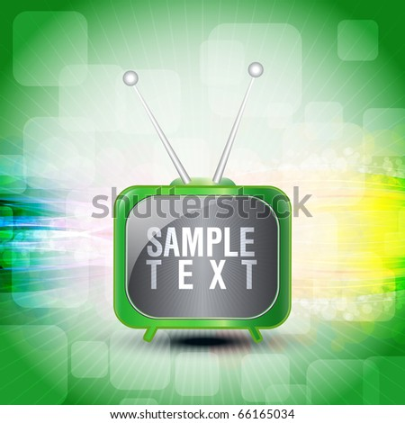EPS10 Colorful Abstract Television With Lines Vector Illustration Creative Design - stock vector