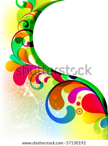 EPS10. Colorful background with space for your message - stock vector