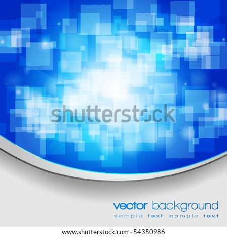 EPS10 colorful blue vector background with text