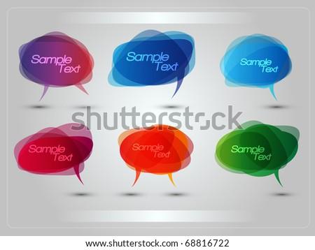 EPS10 Colorful Bubbles for Speech Vector Design - stock vector