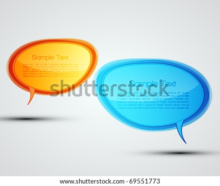 EPS10 Colorful Bubbles for Speech Vector Design - stock vector