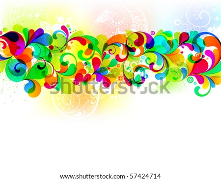 EPS10. Colorful editable template. - stock vector