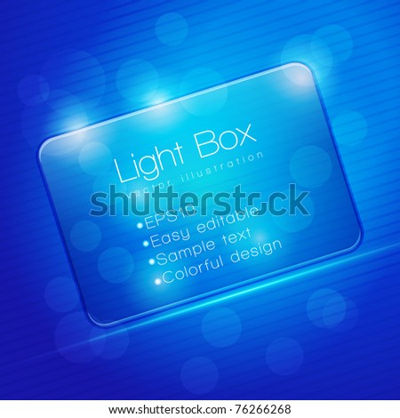 EPS10 Colorful Glass Transparent Web Box - Vector Illustration - stock vector