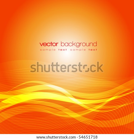 EPS10 Colorful lines - vector abstract background with text