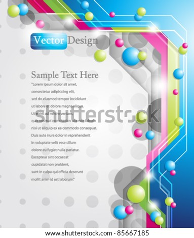 Eps10 Colorful Modern Background Design - stock vector