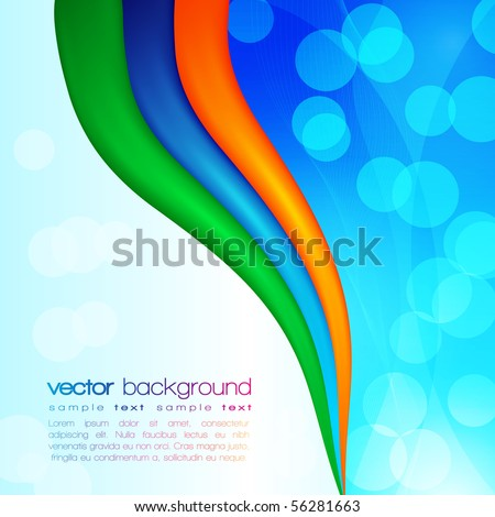 EPS10 Colorful Vector Layout - stock vector