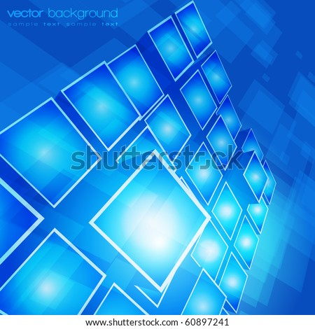 EPS10 3D bright rounded squares abstract background - vector illustration