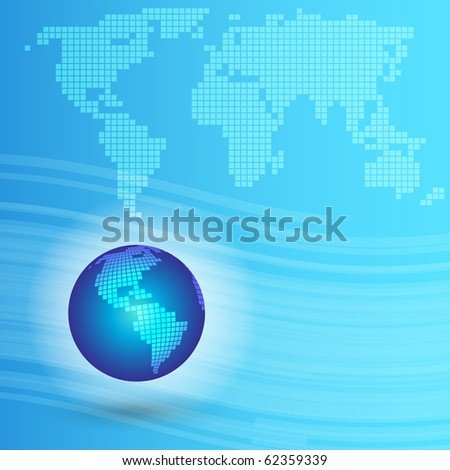 EPS10 3D Colorful Map Vector - stock vector