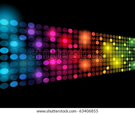 EPS10 3D Perspective Colorful Dots Abstract Vector Background - stock vector