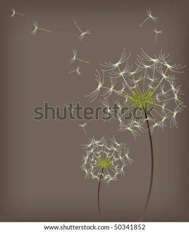 eps10 dandelion background - stock vector