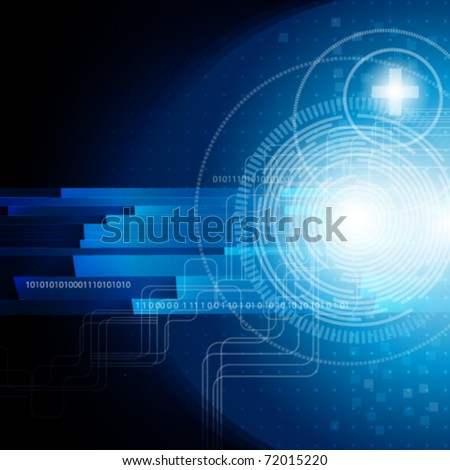 Eps10. Design background with the digital elements of communications and free space for your message. - stock vector