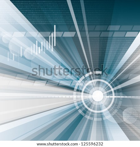 Eps 10. Editable abstract business background. This illustration contains a transparency blend and graphs. This blend and graphs is on a separate layer - stock vector