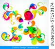 EPS10. Editable collection of colorful design elements - stock photo