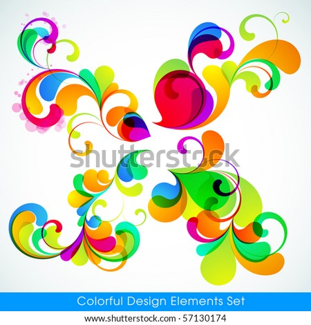 EPS10. Editable collection of colorful design elements - stock vector