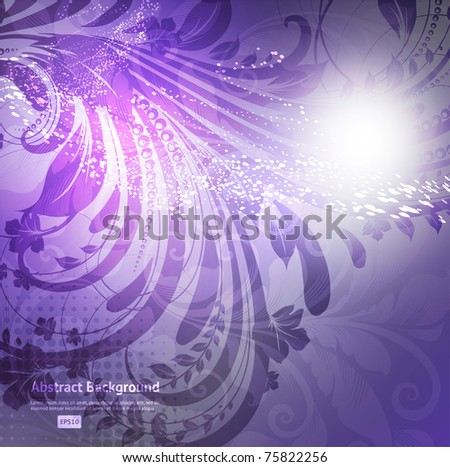 eps10 elegant floral abstract vector wave background - stock vector