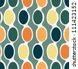 Eps10 file. Seamless retro geometric pattern - stock photo