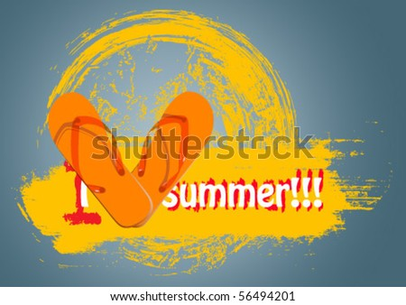 eps10 flip flop - stock vector