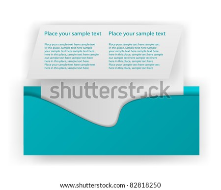 eps10 flyer design elements - stock vector