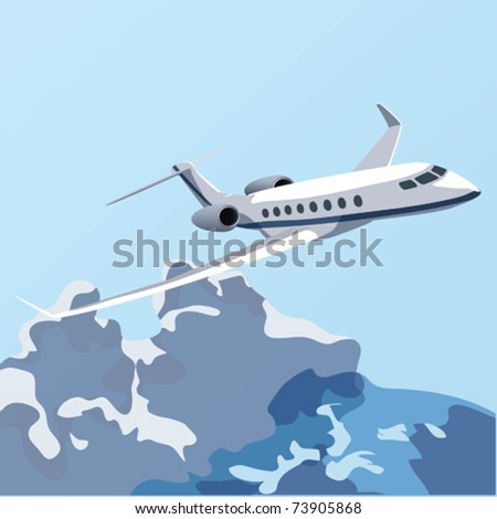 EPS10 Flying over the clouds - stock vector