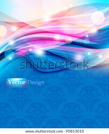 Eps10 Futuristic Colorful Modern Abstract Wave Design - stock vector