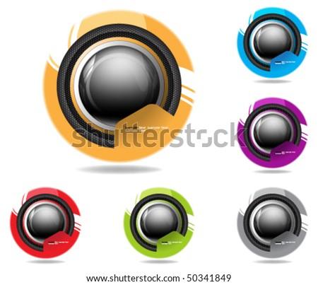 eps10 futuristic icon - stock vector