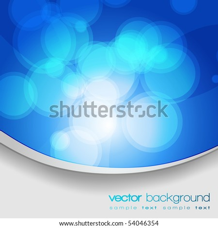 EPS10 Glittering blue lights background with text - vector - stock vector