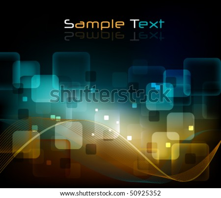 eps10 glowing background - stock vector