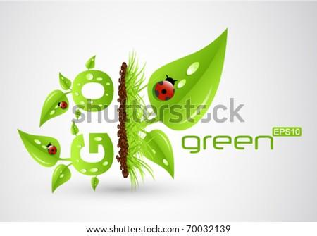 eps10 go green concept - stock vector