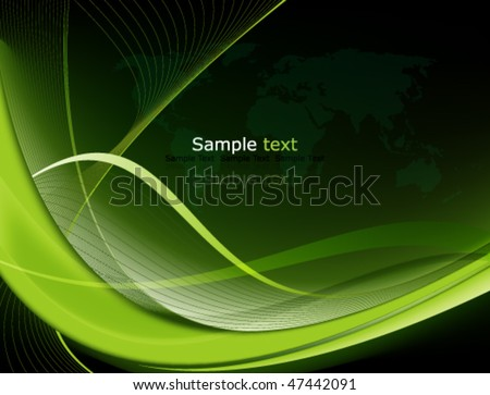 Eps10 Green Abstract Background - stock vector
