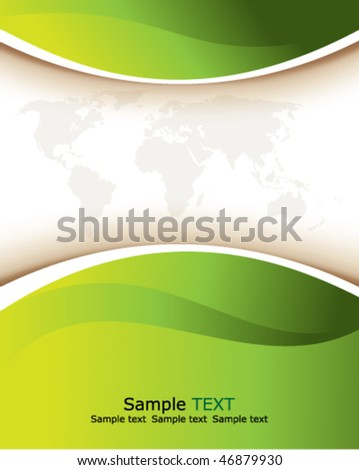 Eps10 green background - stock vector