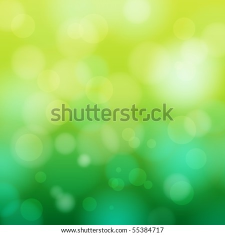 EPS 10 Green bokeh abstract light background - Vector illustration - stock vector