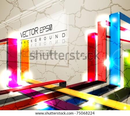 eps10 grunge vector abstract design - stock vector