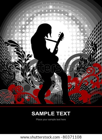 EPS 10, guitarist - web and print template - stock vector
