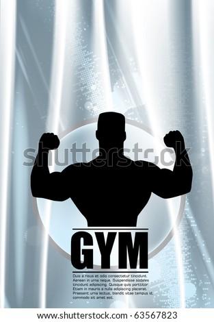Eps10 Gym vector illustration - stock vector